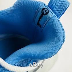 Air Jordan Unc Trainer 2 Pour Homme, Taille 11.5 Flyknit, Blanc, Roues Bleues 921210 106