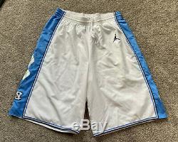 Authentique Jordan North Carolina Tar Heels Grand Shorts Basketball Unc Last Dance