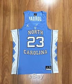 Authentique Maillot De Basketball Ncaa XL De Nike Jordan Unc Pour La Caroline Du Nord