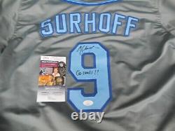 B. J. Bj Surhoff A Signé North Carolina Unc Tar Heels Cousu Sur Le Maillot XL Jsa Coa