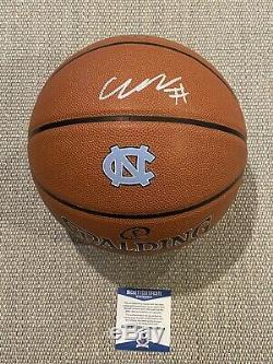 Beckett Coa! Cole Anthony Signé Autographié Unc Rat Talons Basketball Caroline