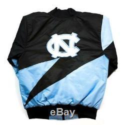Brand New Nostalgique Du Club Unc Tarheels North Carolina Racing Veste En Satin