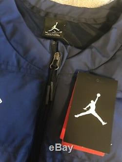 Carolina Tar Heels Unc Nike Jordan Protect Shield 1/2-zip Pull Gilet Taille M