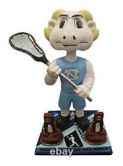 Caroline Du Nord Tar Heels Unc Rameses Mascot Bobblehead Ncaa Lacrosse #/180 Nouveau