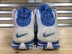 Chaussures De Sport Nike Shox Elite Unc 2004 White University Blue Sz 11.5 (309182-143)
