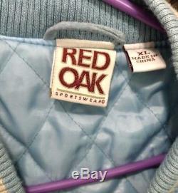 Chêne Rouge Sportswear Carolina Veste En Daim Varsity En Suède Et À La Veste Sz XL Avec Manteau Bomber Unc