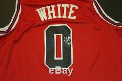Coby Blanc Signé Basketball Chicago Bulls Jersey Taille XL 52 Withcoa Unc Tar Heels