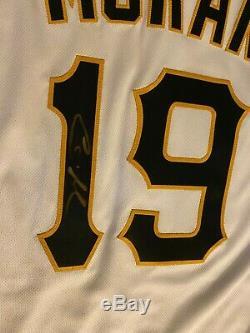 Colin Moran 2018 Jeu Accueil Utilisé Jersey Signe Pittsburgh Pirates Unc Tar Heels
