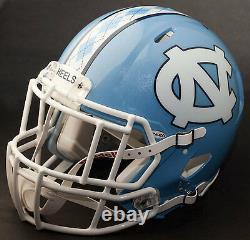 Custom North Carolina Tar Heels Ncaa Riddell Speed Football Helmet Unc