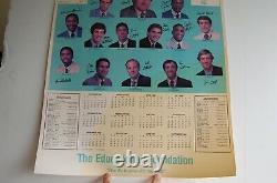 D'origine Unc Tar Heels 1983-84 Basketball Calendrier Poster Michael Jordan Millésime