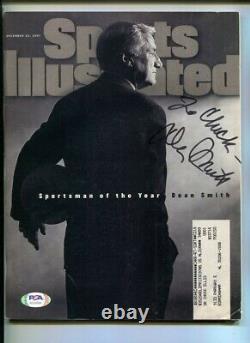 Dean Smith Signé 1997 Sports Illustrated Autographié Unc Tar Heels Psa/dna