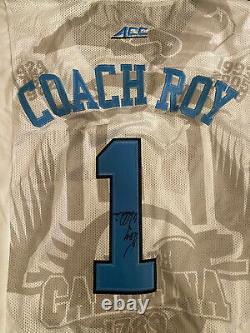 Entraîneur Roy Williams Signé / Autographié Unc Tar Heels Custom Basketball Jersey