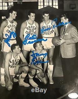 Équipe De Talons Aiguilles Caroline Du Nord 1957 Unc Signée Photo Jsa 8x10