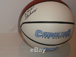 Eric Montross Signé North Carolina Tar Heels Logo Basketball Unc Légende