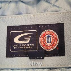G-iii Sports Vintage Unc Carolina Tar Talons Bleu Cuir Bomber Full Zip Veste