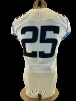 Game Worn Utilisé Nike Caroline Du Nord Tar Talons Unc Football Jersey #25 Taille 40