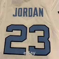 Heels Unc Tar Michael Jordan 23 Cousu Basketball Jersey L Caroline Du Blanc