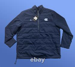 Hommes Nike Jordan Jumpman Unc Tar Talons Light Puffer Jacket Navy 2xl Cq7689-414