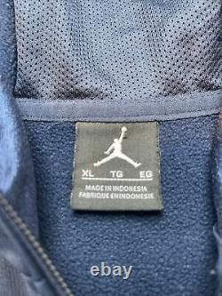 Hommes XL Nike Jordan Caroline Du Nord Unc Tar Talons Elite Basketball Hoodie