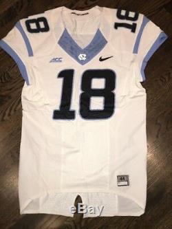 Jeu Porté Usagé Nike North Carolina Tar Talons Unc Football Jersey # 18 Taille 44