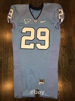 Jeu Worn Used Nike North Carolina Tar Heels Unc Football Jersey #29 Size 42
