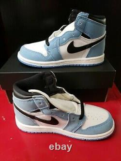 Jordan 1 Retro High University Blue Aq2665-134 Taille 10c Unc Talons De Goudron
