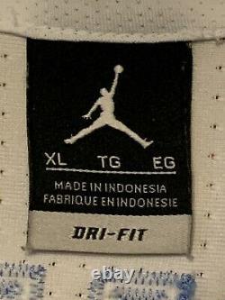 Jordan Elite Ncaa Michael Jordan Unc Tar Talons Authentiques Dri-fit Jersey Adulte XL