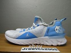 Jordan React Havoc North Carolonga Tar Heels Sz 10 100% Auth. Unc Cj6749 104