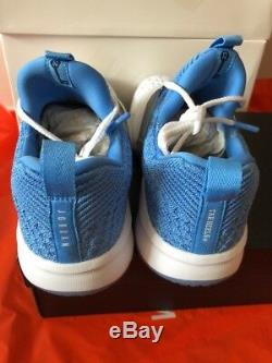 Jordan Trainer 2 Flyknit Unc Tarheels 921210-106 Hommes Sz 7.5 Carolina Bleu Blanc