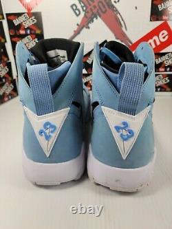 Jordanie 7 Pantone 304775-400 Taille 10,5 Unc Tarheels 1 2 3 4 5 6 7 8 9