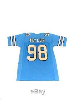 Lawrence Taylor Signé North Carolina Tar Heels Unc (home Bleu) Jersey Jsa