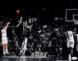 Luke Maye Gagnant Du Jeu D'autographes Unc Photo 11x14 Photo Jsa Coa