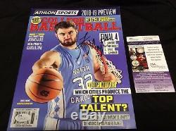 Luke Maye Signé Athlon Magazine No Label Nl Unc Tar Heels Basketball Jsa Coa
