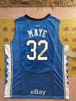 Luke Maye Signé Autograph Unc North Carolina Tar Heels Jersey Ncaa USA Nba