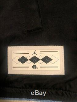 M Nike Jordan Unc Blouson Aviateur Surpiqué Noir Surpiqué Tarheels Bv3927-010 $ 250