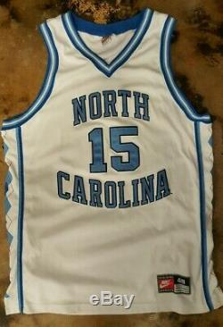 Maillot Vintage Nike Vince Carter Unc Tar Heels # 15 Authentique (taille 48)