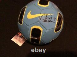 Mia Hamm Signé Soccer Ball Unc Tar Talons Femmes Équipe USA Jsa Coa Proof