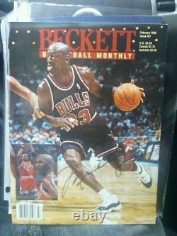 Michael Jordan Chicago Bulls Signé Beckett Magazine Unc North Carolina Tarheels