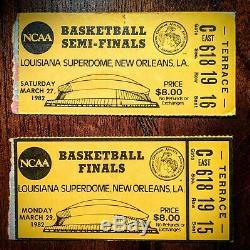 Michael Jordan Ncaa Demi-finale / Finale Billet 1982 Unc Tarheels Match Gagnant