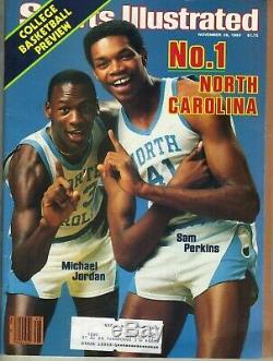 Michael Jordan Premier Sports Illustrated Mag 28 Novembre, 1983 Unc Tar Heels Pc