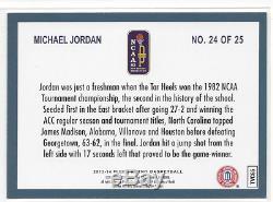 Michael Jordan Retro 2013-14 Fleer Final Four Stars # 24 Unc Heels Tar Rare Sp