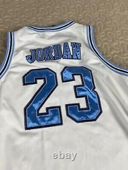 Michael Jordan Unc Caroline Du Nord Tar Talons Throwback Nike Jersey Sz M Auth