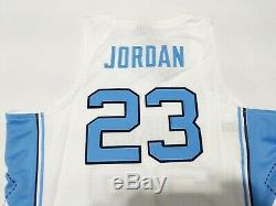 New Air Jordan Unc Tar Heels Jordan 23 Cousu Accueil Basketball Jersey Sz XL