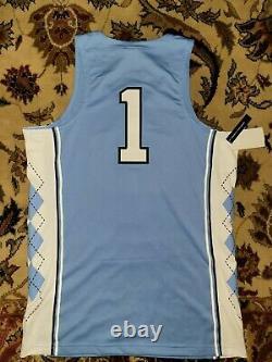 New Nike Air Jordan Unc Carolina Tar Heels #1 Stitched Basketball Jersey Taille M