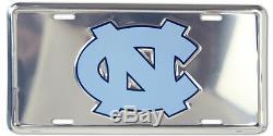 New North Carolina Tar Heels Deluxe License Plate Tag Unc