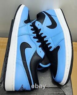 Nike Air Jordan 1 Low 553558-403 Unc University Blue Black New Withbox Taille 11 Ds