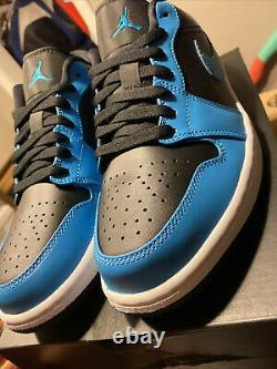 Nike Air Jordan 1 Low Top Blue/black Tarheels Unc Authentiques