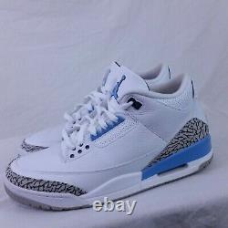 Nike Air Jordan III 3 Retro 2020 Unc Carolina Powder Blue Tar Heels Cement 10.5