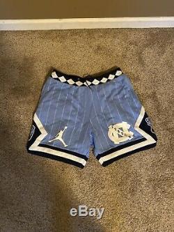 Nike Air Jordan Nrg Unc Caroline Du Nord Bleu Tarheels Shorts Toison Xlarge