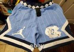 Nike Air Jordan Nrg Unc North Carolina Tarheels Fleece Shorts Cd0133-448 Homme L
